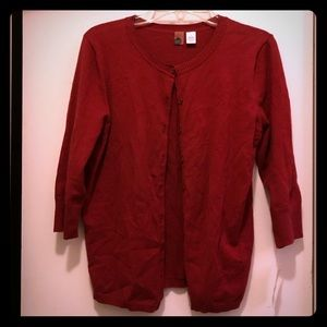 NWT BP Red 3/4 Sleeves Cardigan Sz L